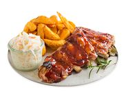 Spareribs, Country Potatoes & Coleslaw
