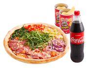 Fussball Jumbo Pizza Menü