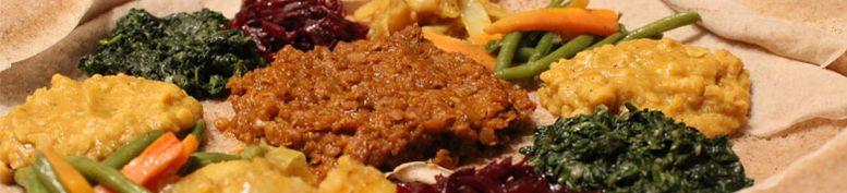 Vegan und Fleisch Kombination - Cafe ABOL - äthiopische Küche