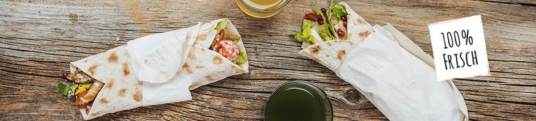 Wraps - Blattgold - Salads, Bowls, Curries & Wraps