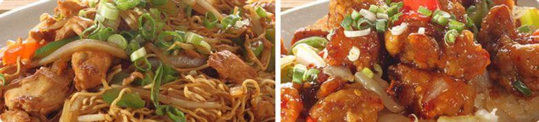 Hühnerfleischgerichte mit Reis  - Asia Imbiss Rosi