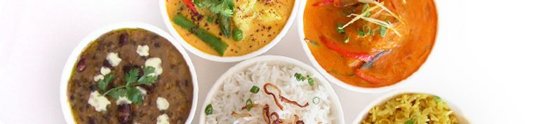 Indisch: Thali  - Hallo India
