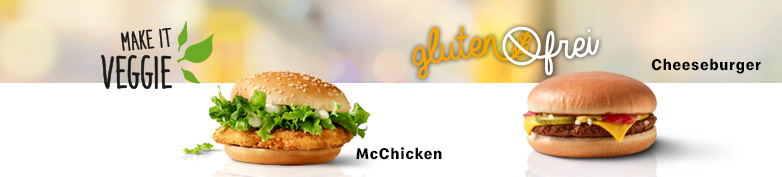 Spezial - Glutenfrei & Make it Veggie - McDonald's