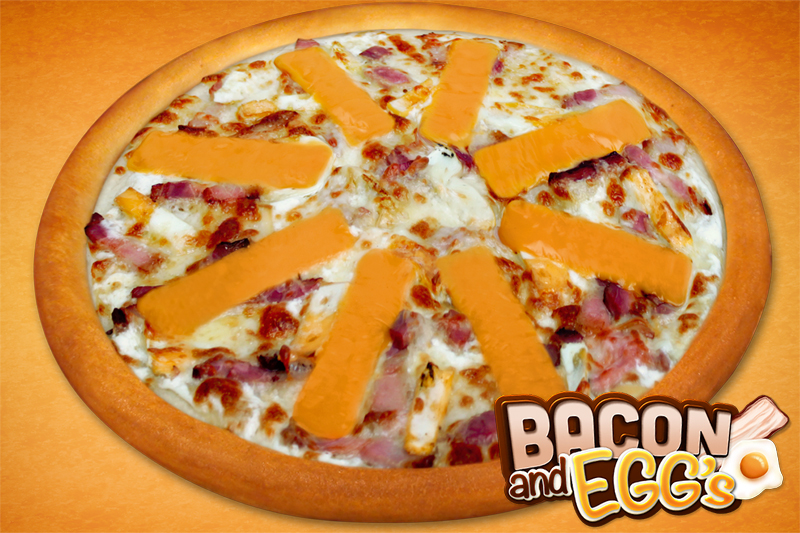 Bacon and eggs pizza (30cm)