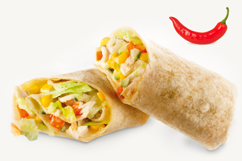 Édes-chilis wrap