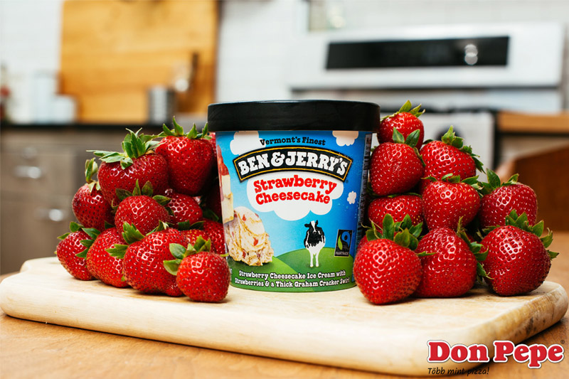 Ben & Jerrys Strawberry Cheesecake jégkrém (500ml)