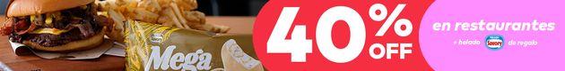 Aprovecha 40% OFF en platos + Helado Savory de regalo
