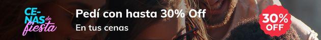 Cenas 30% OFF