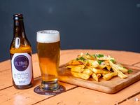 Combo Papas Fritas + cerveza porrón artesanal 330 ml