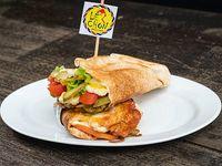 Sándwich árabe vegetariano