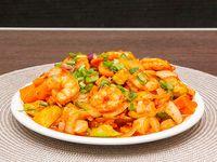 97 - Langostinos con salsa de tomate