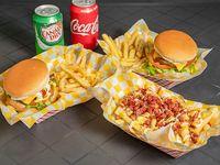 Combo 2 - 2 papi burger + choripapa+Soda