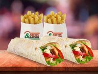 2 Burritos Monterrey de Pollo + 2 Papas Pequeñas