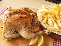 Promo - Pollo al horno con papas fritas (grande)