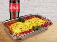 Cannellonis de pollo Familiares + Coca-Cola Sabor Original 1.5Lt