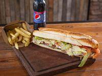 Combo - Bondiola Blog + papas fritas + bebida 250 ml
