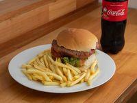 Combo 3 - Hamburguesa Big Diablo + Fritas + Refresco 600 ml