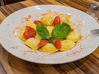 Sorrentinos de muzzrella y jamón