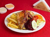 Mostrito - 1/4 de pollo con arroz chaufa