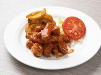 Alitas de Pollo Wings (10 piezas) con Salsa BBQ o Búffalo