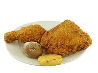 Dos Presas de Pollo Apanado