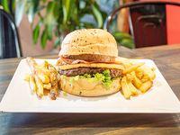 Combo - Don Jhonson burger con papas fritas rusticas