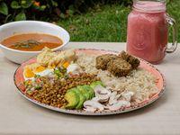 Bowl Vegetariano + Sopa + Jugo