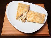 148 - Panqueque de champignon, queso y cebolla