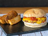 Cheese Burger + fritas