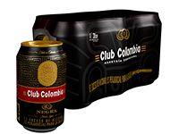 Six Pack Cerveza Club Colombia Negra Lata 330 ml