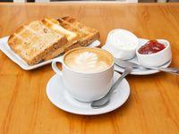 Desayuno o merienda del campo - Infusión + tostadas de pan casero + dips para untar