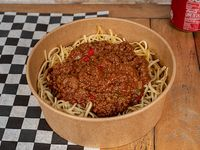 Bowl de spaghetti + bebida en lata 354 ml