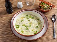 Sopa de palta apto para veganos y celíacos
