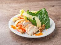 Ensalada de pollo grille y espinaca