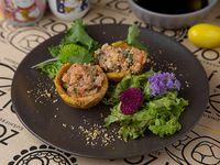 Canastitas de tartar de salmón (2 unidades)
