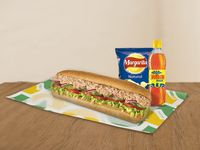 1 Sub de 30cm + Bebida Pet 400ml + Papitas