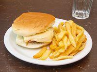 Hamburguesa con queso y jamón