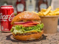 Promoción - Burger classic hit + papas fritas +  bebida