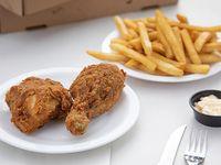 Combo - Caribbean paw 2 piezas de pollo rebozado + papas fritas