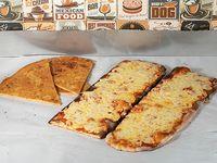 Promo 2 - Pizza muzzarella 1 metro + 3 fainá + Refresco Coca Cola 2.25 L o cerveza Patricia 1 L