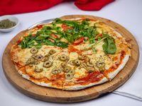 Pizzeta con 2 sabores