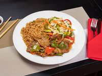 Combo 6 - Arroz + carne salteada con verduras
