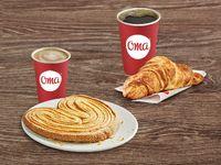 Combo Para Dos: Croissant Jamón y Queso y Latte