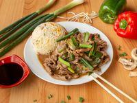 Colación - Carne mongoliana + acompañamiento