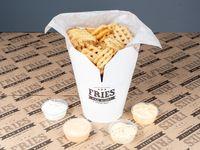 Waffle fries gigantes