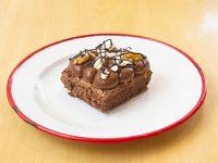 Cuadrado brownie con dulce de leche