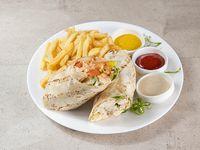 Combo - Wrap de pollo + papas fritas + soda