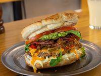 Sándwich de hamburguesa gourmet