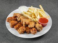 Combo - 15 wings + 3 salsas + acompañamientos + bebidas