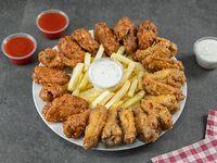 Combo - 20 wings + 4 salsas + acompañamientos + bebidas